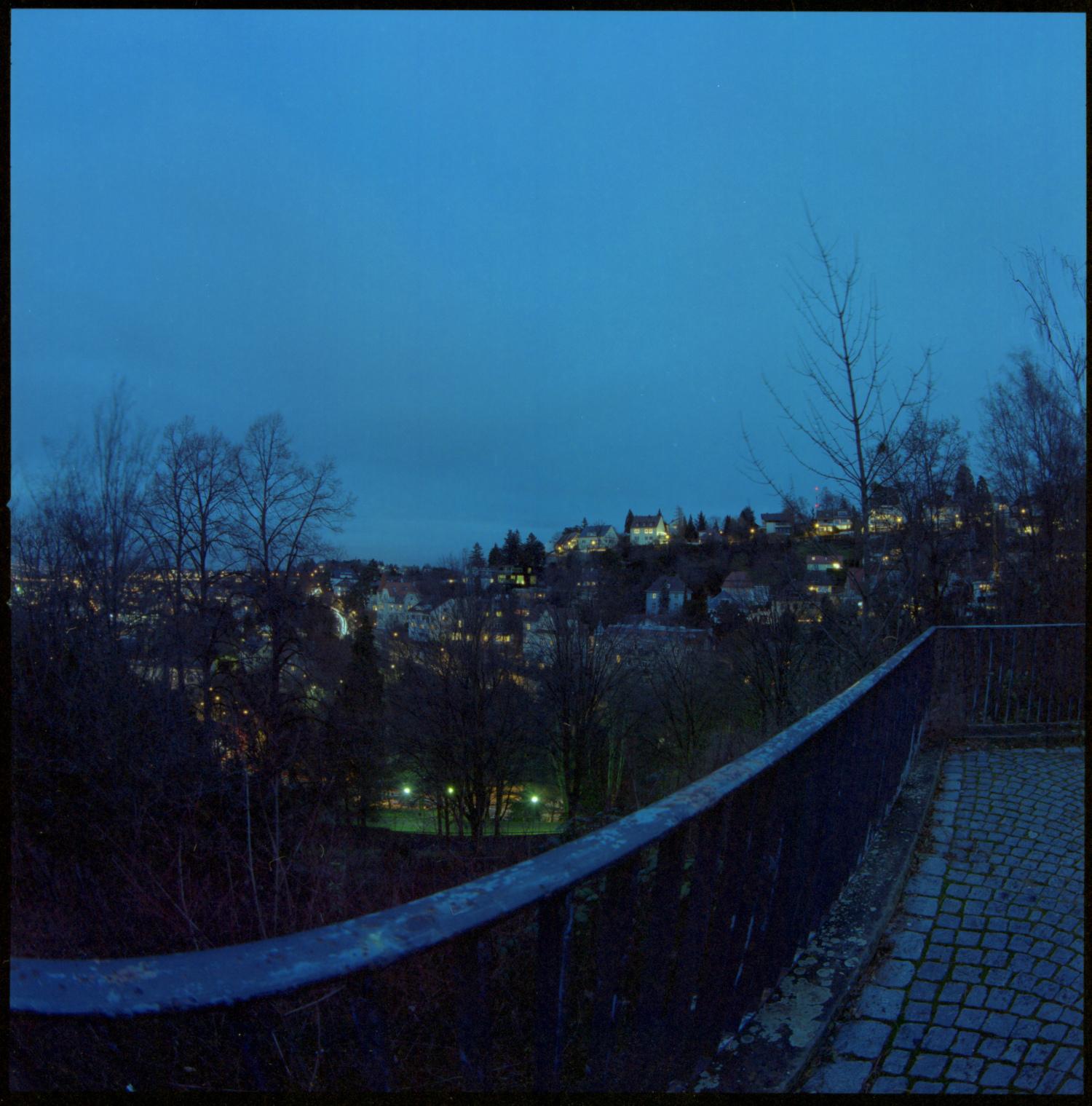 Stuttgart vom Teehaus aus gesehen