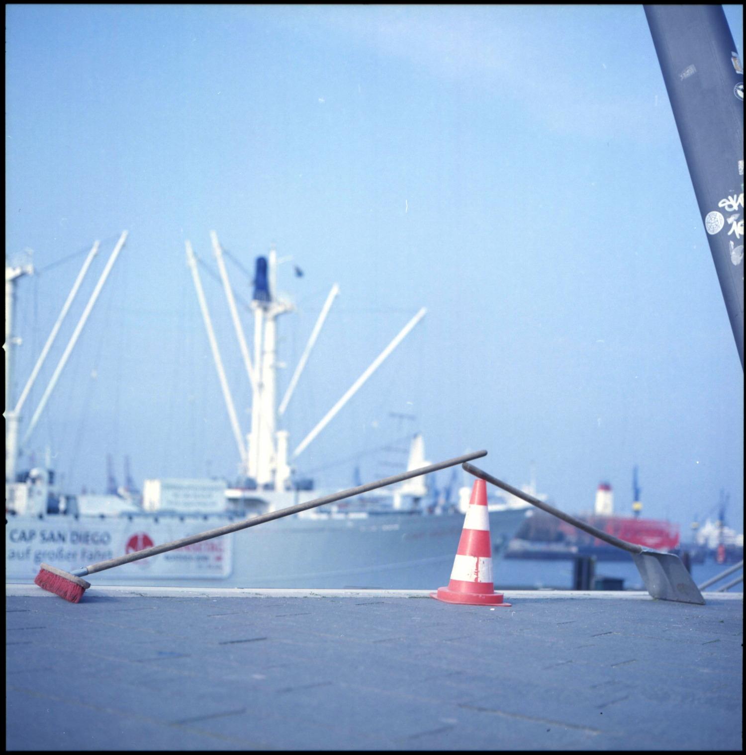 Absperrung am Hamburger Hafen